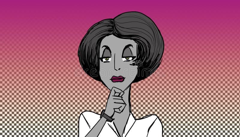 Mujer que escucha libre illustration