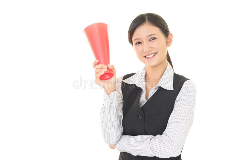 Mujer que está animando fotografía de archivo