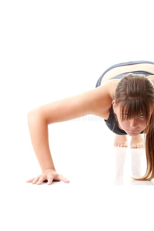 Mujer que hace ejercicio fotografía de archivo