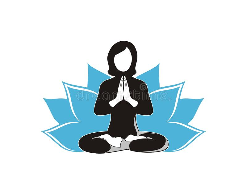 Mujer que hace vector del diseño de la yoga ilustración del vector
