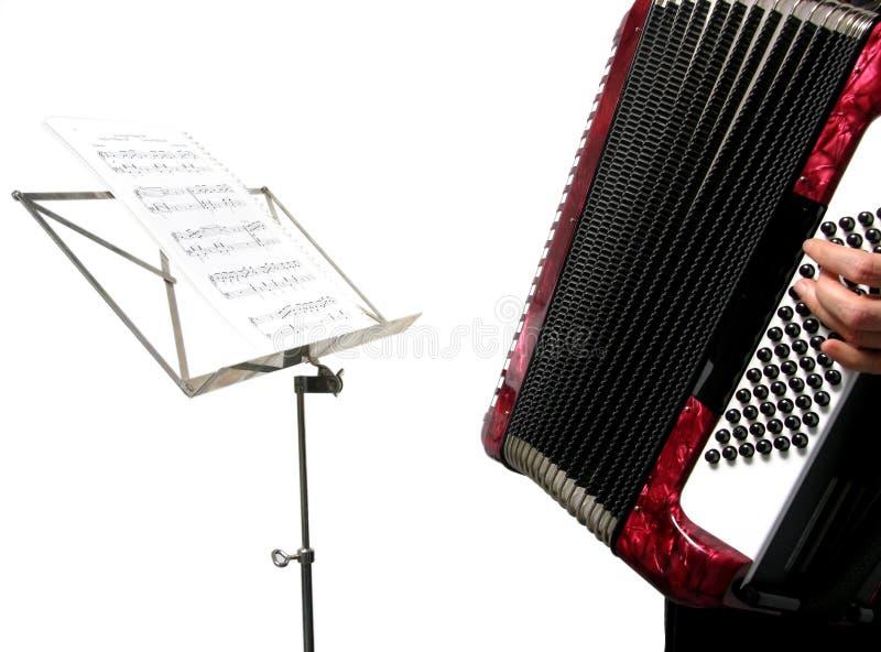 Mujer que juega el acordión foto de archivo libre de regalías