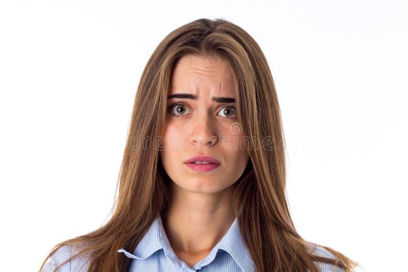 Mujer que parece confundida fotografía de archivo libre de regalías
