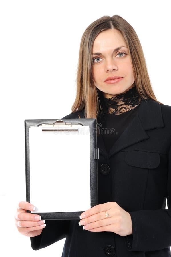 Mujer que representa algo imagenes de archivo