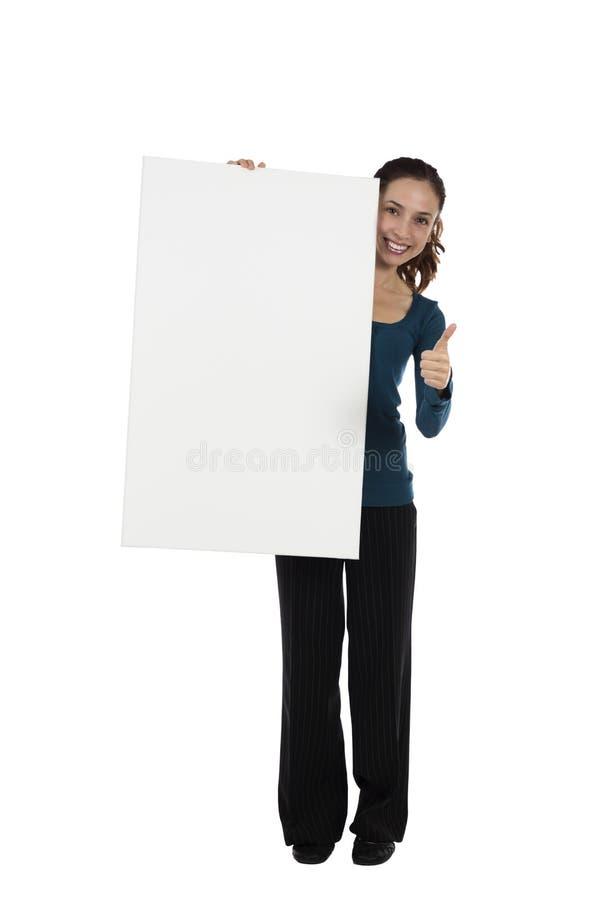 Download Mujer Que Sostiene Un Cartel En Blanco Imagen de archivo - Imagen de fondo, tarjeta: 44852775