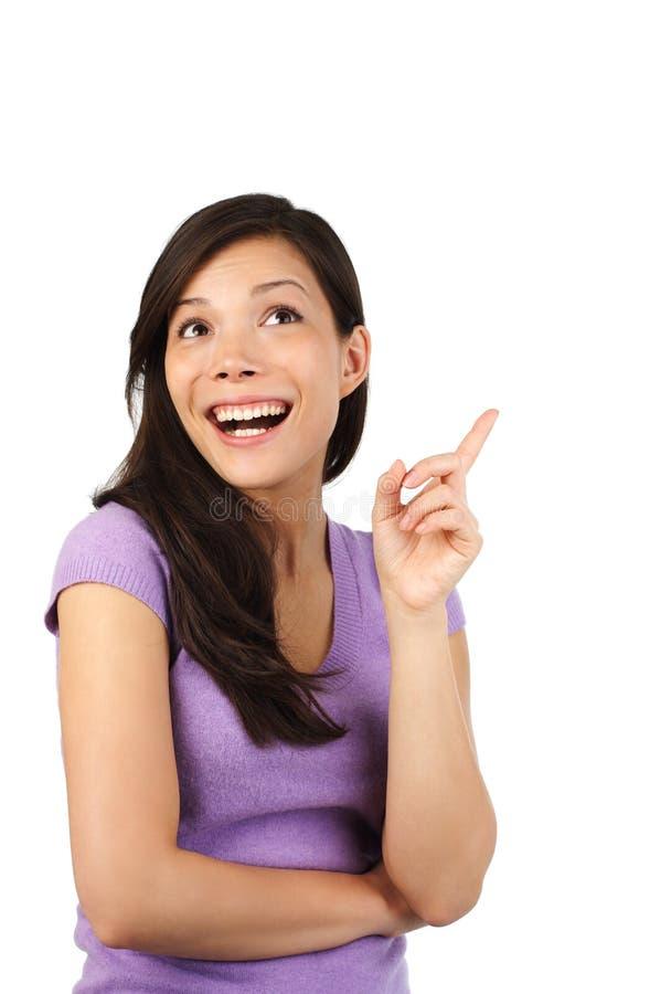 Mujer que tiene una buena idea. fotografía de archivo libre de regalías