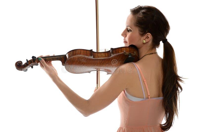 Mujer que toca el violín fotografía de archivo libre de regalías