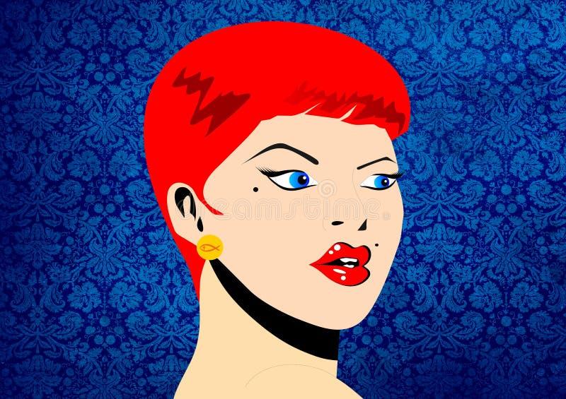 Download Mujer retra stock de ilustración. Ilustración de pendientes - 41901360