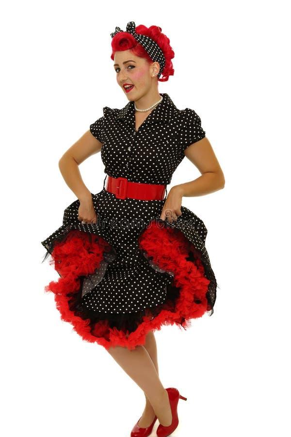 Mujer retra con el vestido fotografía de archivo libre de regalías