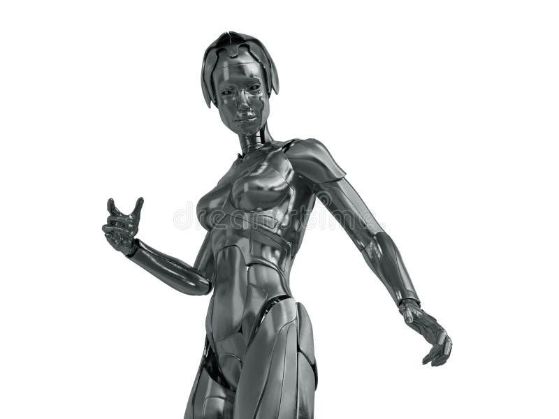 Mujer robótica libre illustration