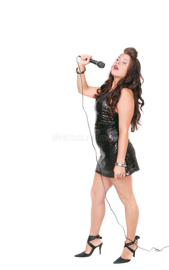 Mujer rockstar foto de archivo libre de regalías