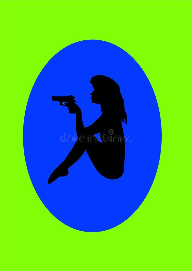 Mujer secreta ilustración del vector