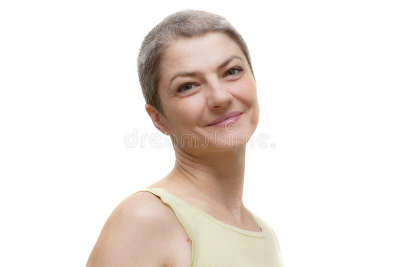 Mujer sonriente. foto de archivo