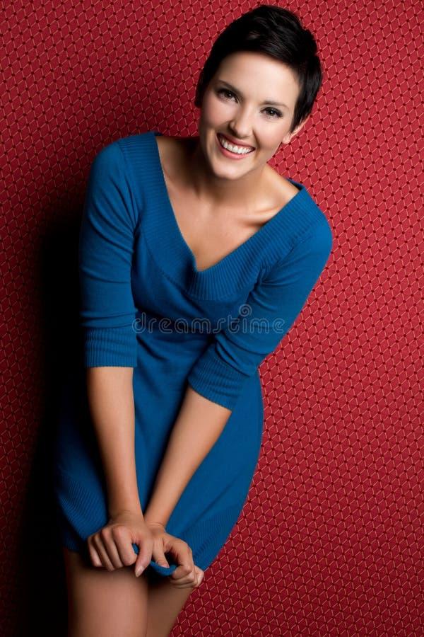 Mujer sonriente fotos de archivo