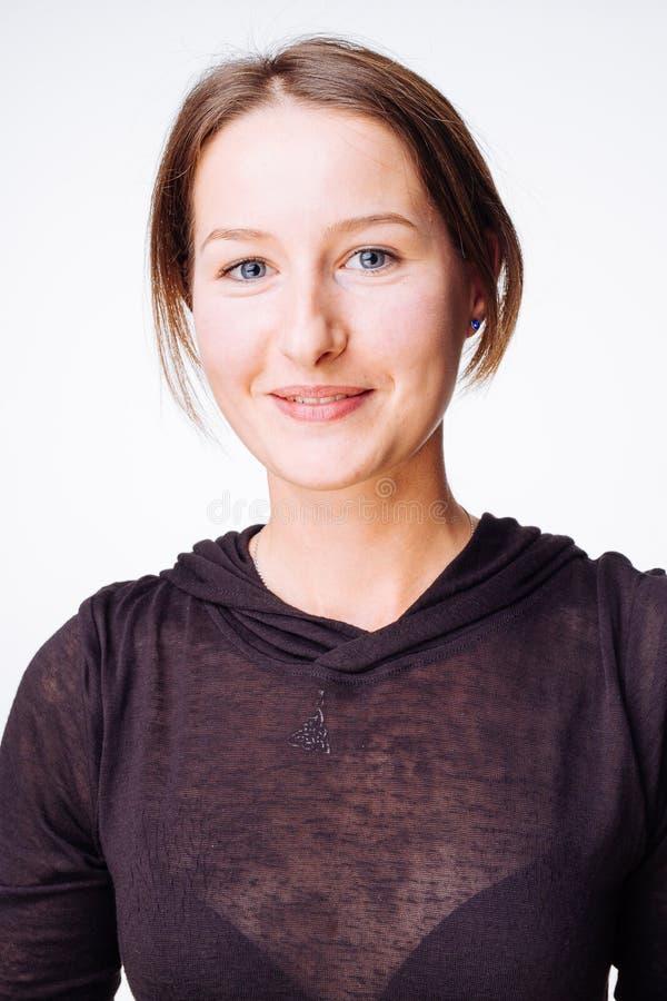 Mujer sonriente pura fotografía de archivo