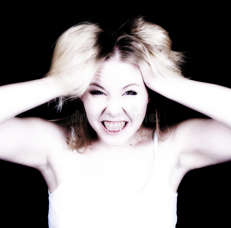 Mujer tensionada imagen de archivo