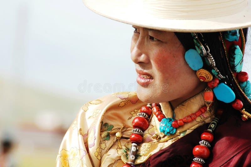 Mujer tibetana imagen de archivo