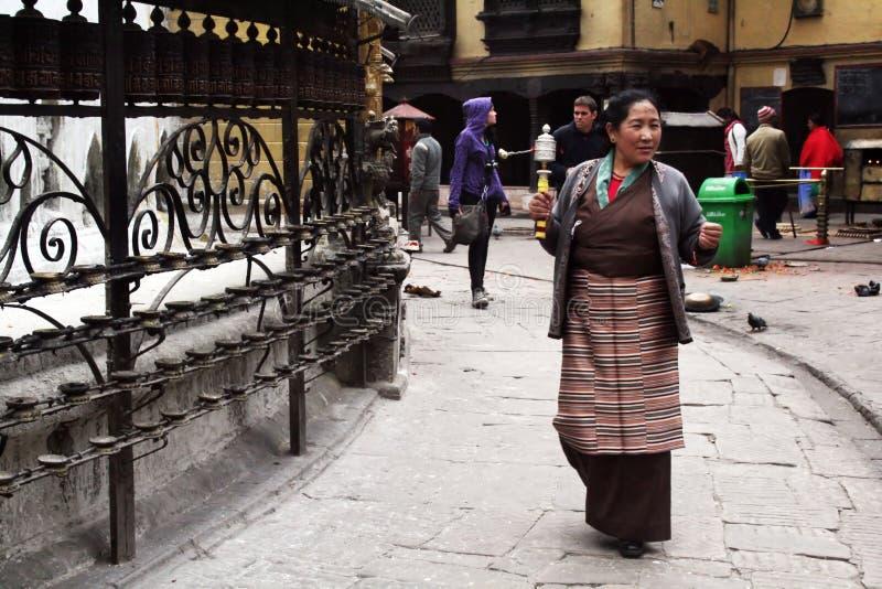 Mujer tibetana fotos de archivo libres de regalías