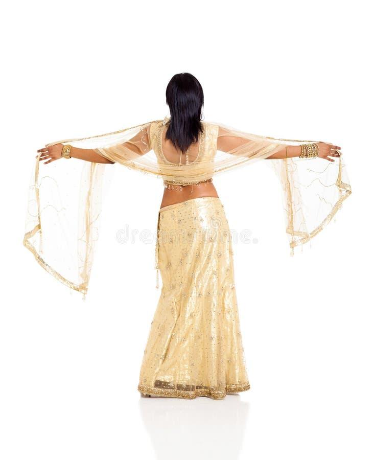 Mujer trasera del indio de la visión fotos de archivo