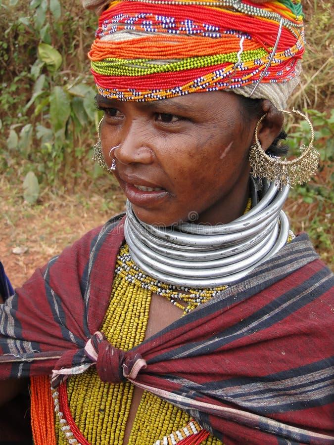 Mujer tribal de Bonda imagen de archivo libre de regalías