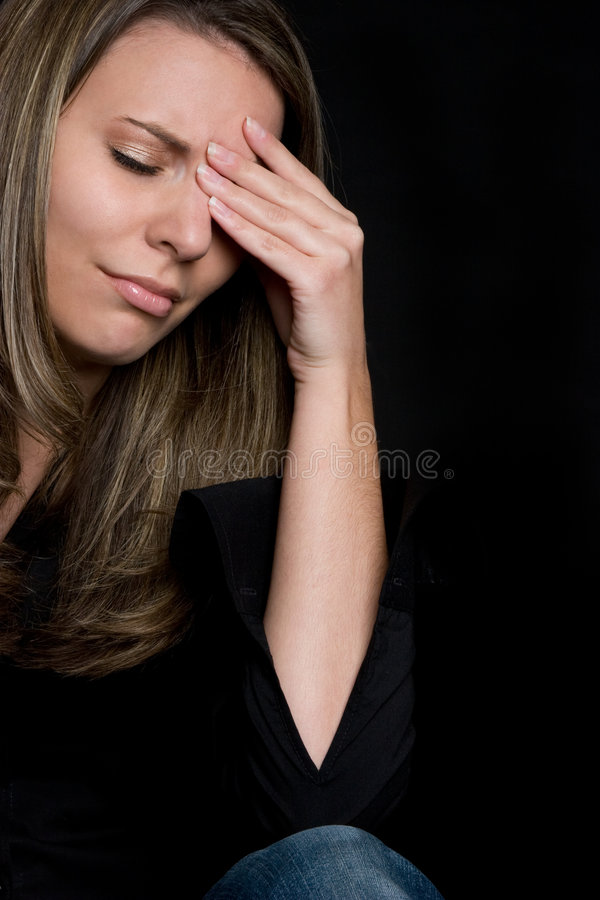 Mujer triste gritadora imagen de archivo libre de regalías