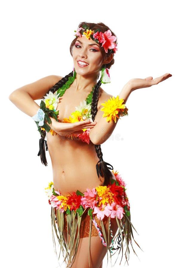Mujer tropical fotos de archivo