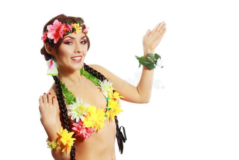 Mujer tropical fotos de archivo libres de regalías