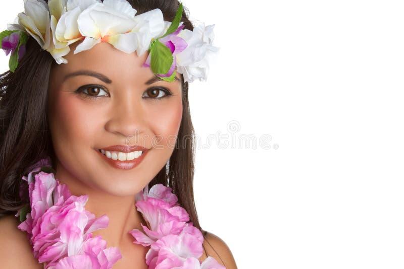 Mujer tropical hawaiana fotos de archivo libres de regalías