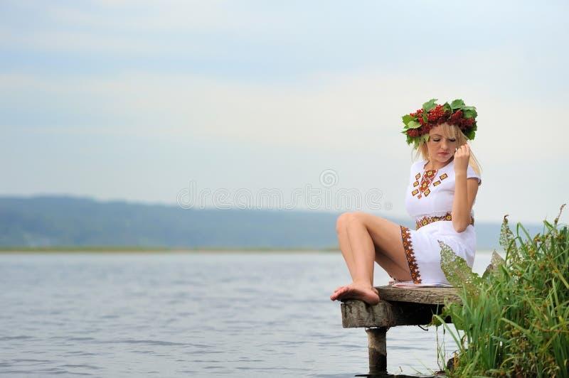 Mujer ucraniana imagen de archivo libre de regalías