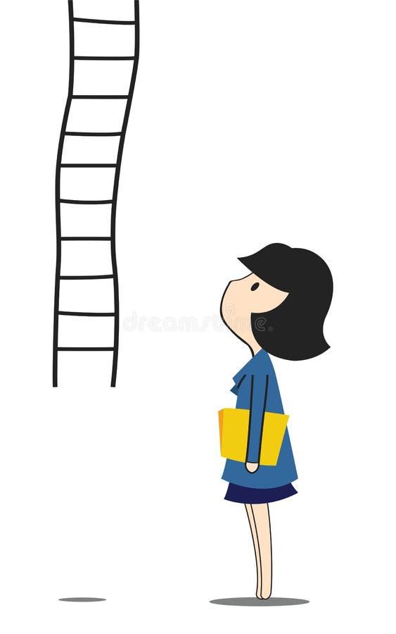 Mujer y paso libre illustration