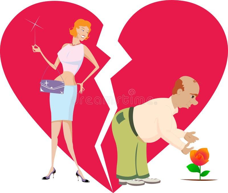 Mujer y su marido ilustración del vector