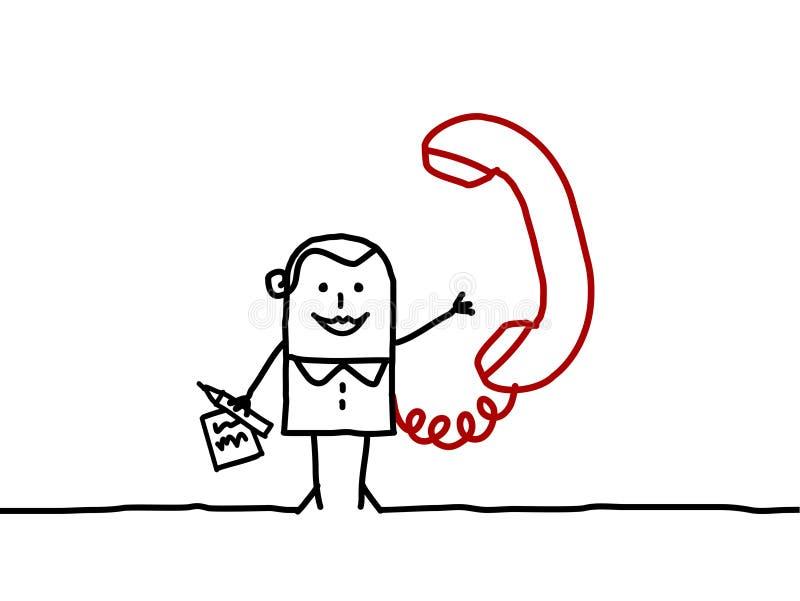 Mujer y teléfono de negocios libre illustration