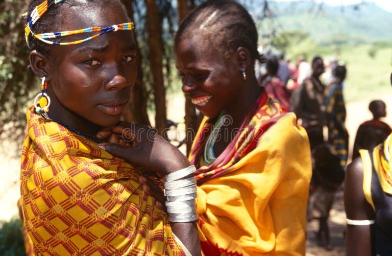 Mujeres étnicas de Karamojong, Karamoja, Uganda imágenes de archivo libres de regalías
