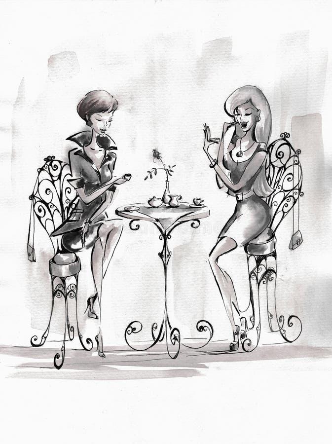 Mujeres stock de ilustración