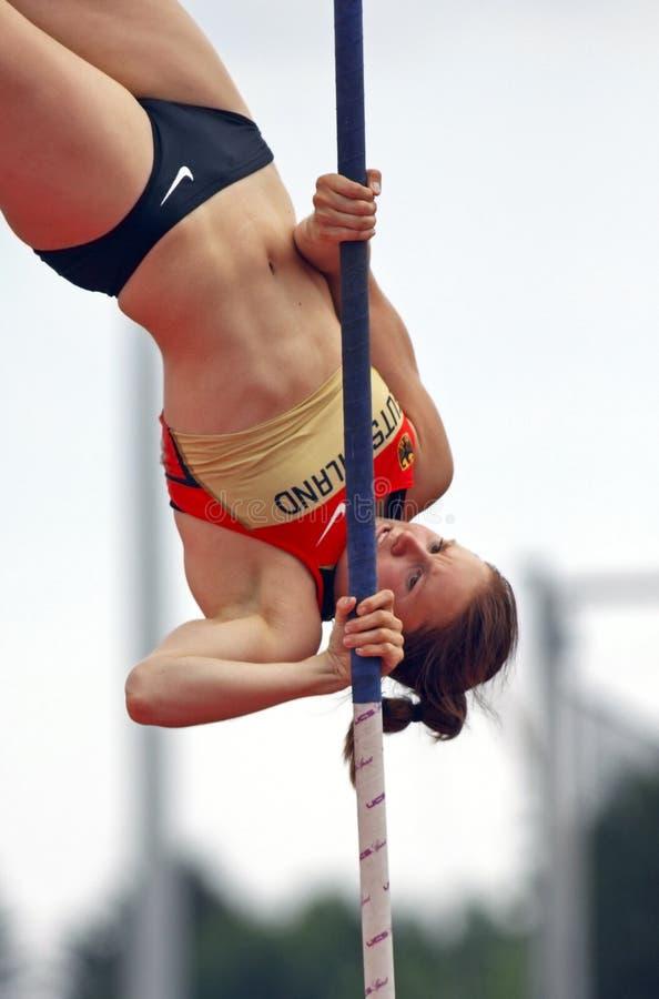 Mujeres Alemania del salto con pértiga imagen de archivo libre de regalías