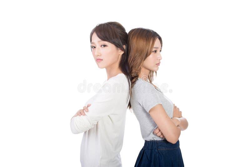 Mujeres asiáticas infelices foto de archivo