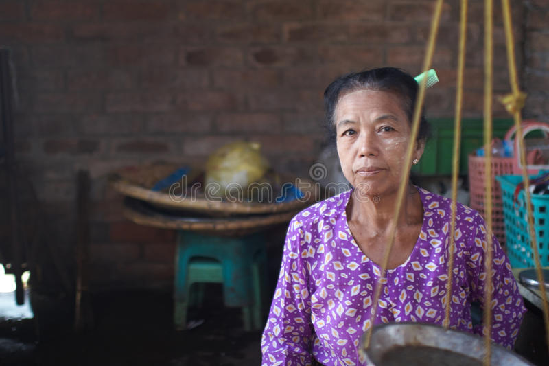 Mujeres birmanas fotografía de archivo