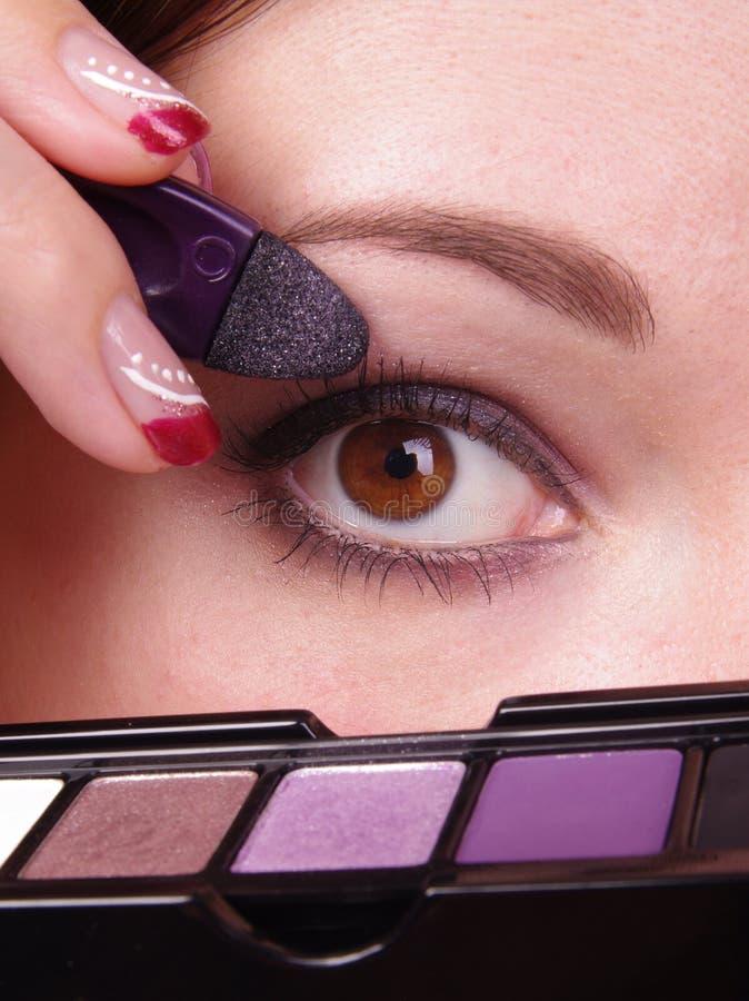 Mujeres con maquillaje imagen de archivo libre de regalías