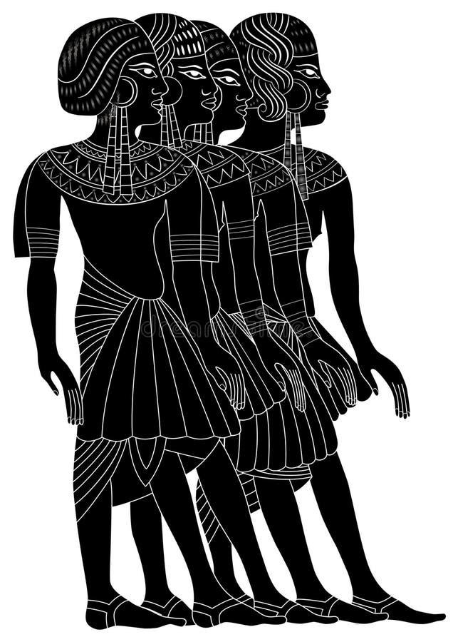 Mujeres de Egipto antiguo ilustración del vector