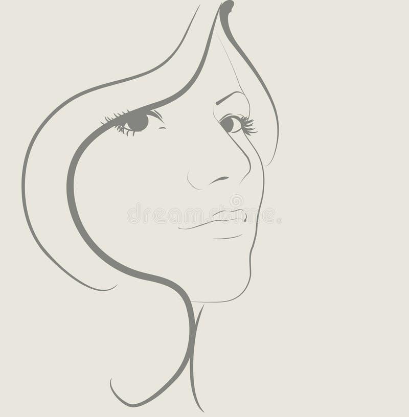 Mujeres de la belleza libre illustration