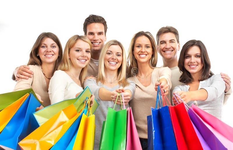 Mujeres de las compras imagen de archivo libre de regalías