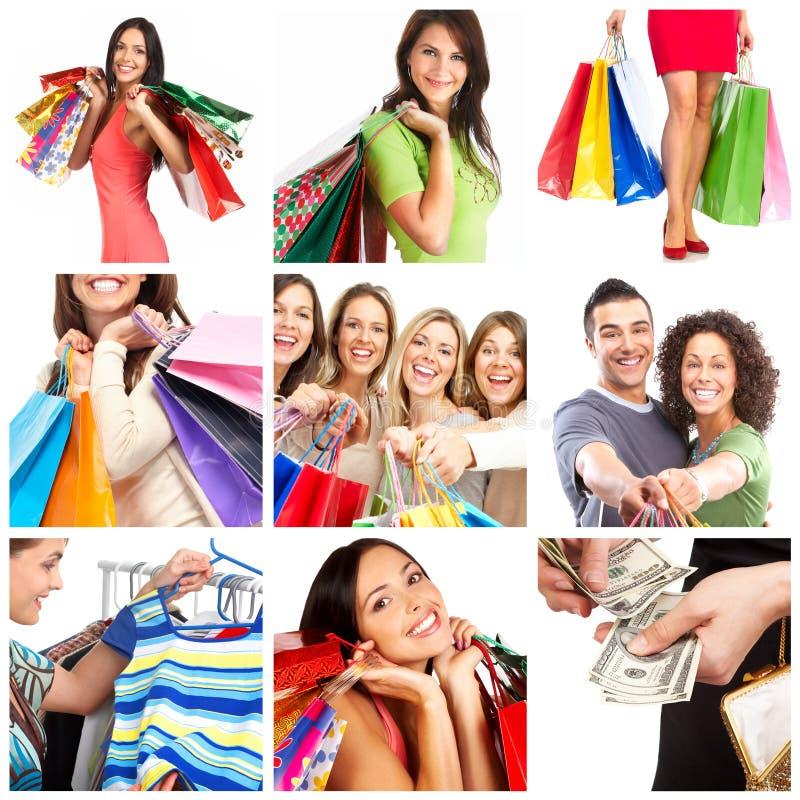 Mujeres de las compras foto de archivo libre de regalías