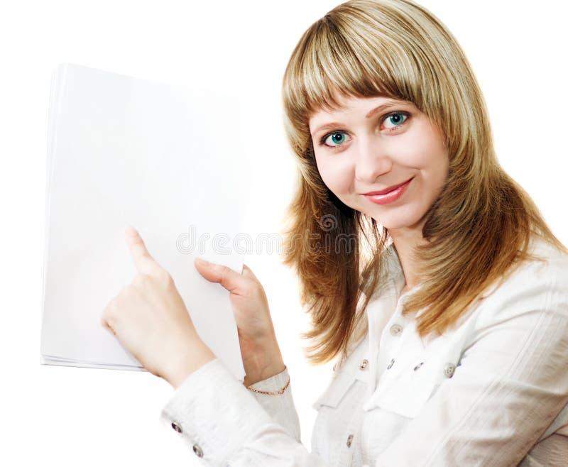 Mujeres de negocios con los documentos fotos de archivo
