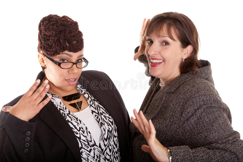 Mujeres de negocios de la raza mixta fotografía de archivo