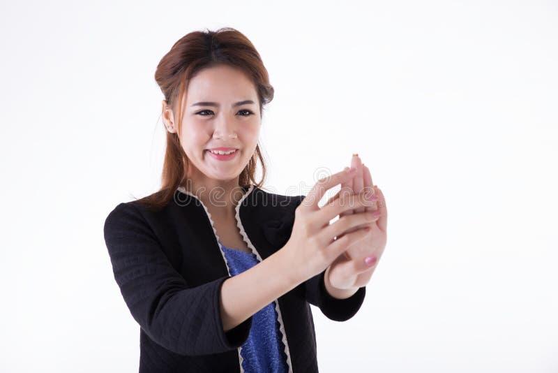 Mujeres de negocios del clavo de la visi?n foto de archivo