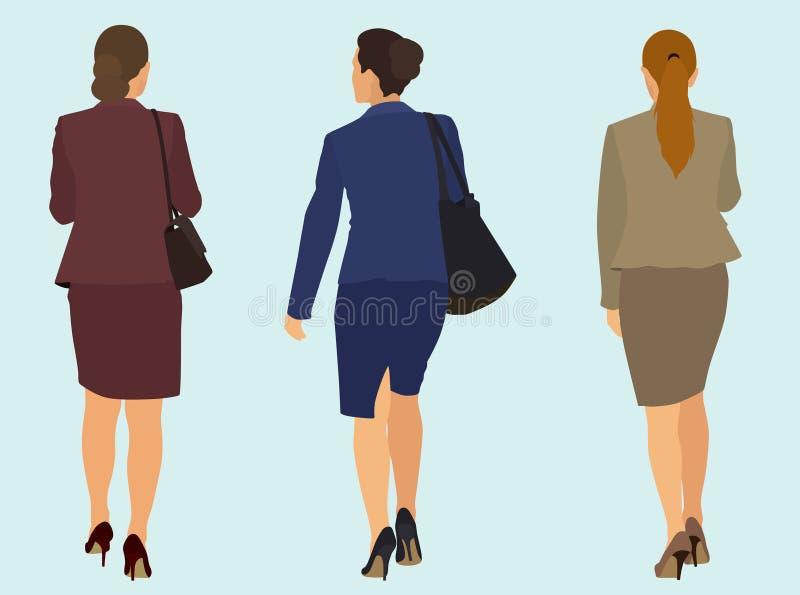 Mujeres de negocios que se van ilustración del vector
