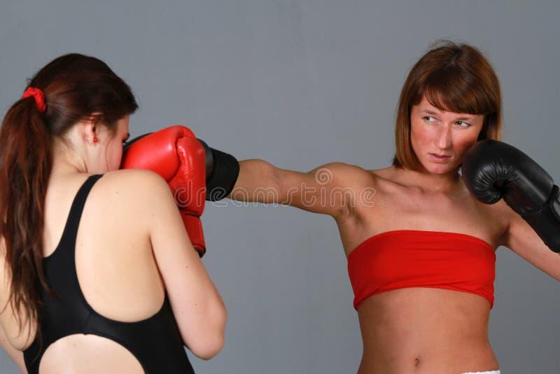 Mujeres del boxeo fotos de archivo