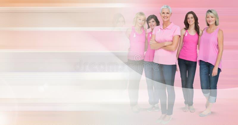 Mujeres del cáncer de pecho con la transición fotografía de archivo