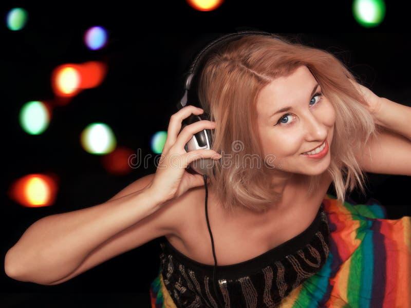 Mujeres DJ imagen de archivo libre de regalías