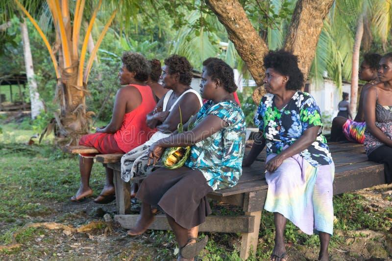 Mujeres en el mercado local, Solomon Islands imágenes de archivo libres de regalías