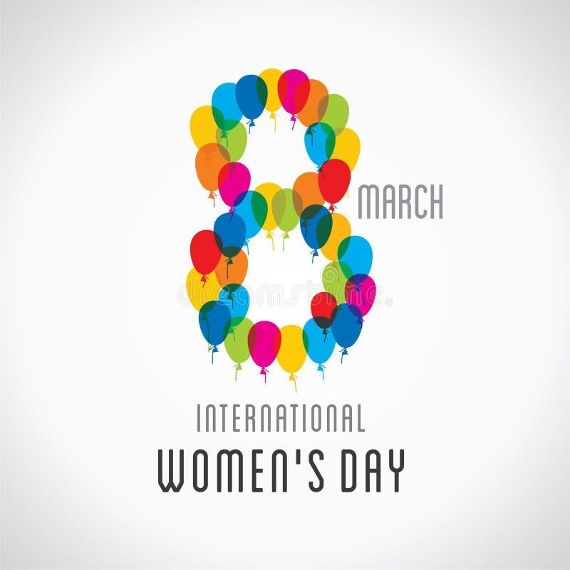 Mujeres felices, diseño del día de s stock de ilustración